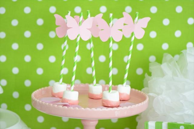 蝶がテーマのお誕生日会 - ピンクバタフライパーティー : Pink Butterfly Party