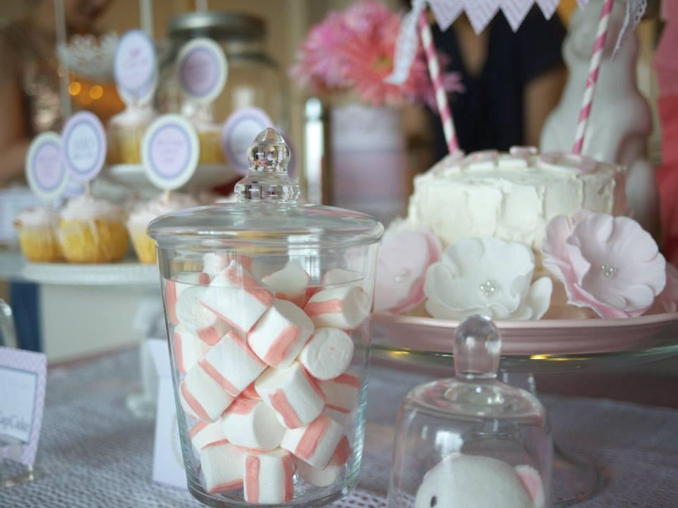 ベビーピンクの赤ちゃんお披露目パーティー : Pink Bird Themed Party