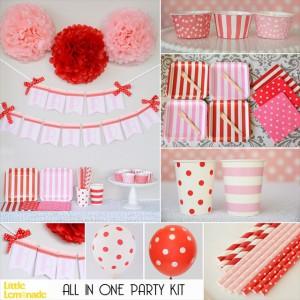 パーティーキット_Red+Pink