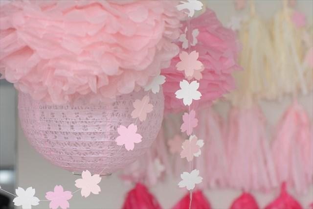 桜ピンクのファーストバースデイ_g