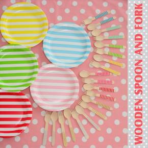 新商品入荷のご案内 カラフル木製カトラリー : Colorful Wooden Spoon and Fork