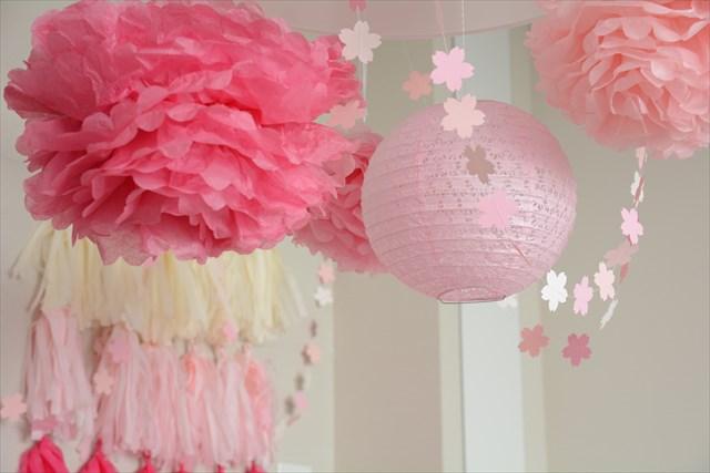 桜ピンクのファーストバースデイ_c