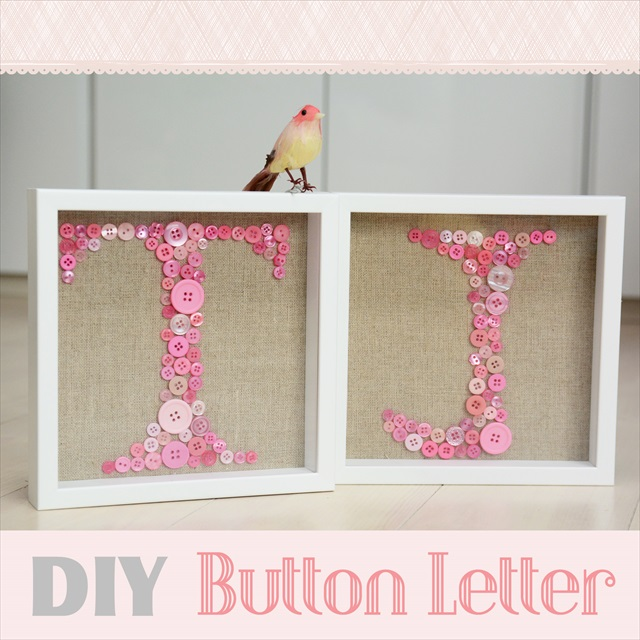 DIY Idea : Button Letter