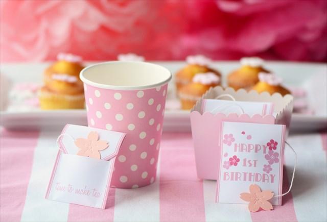 桜ピンクのファーストバースデイ_d