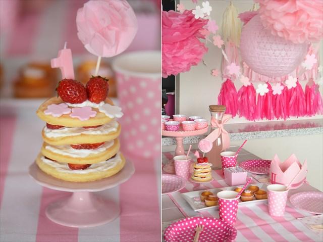 桜ピンクのファーストバースデイ_b