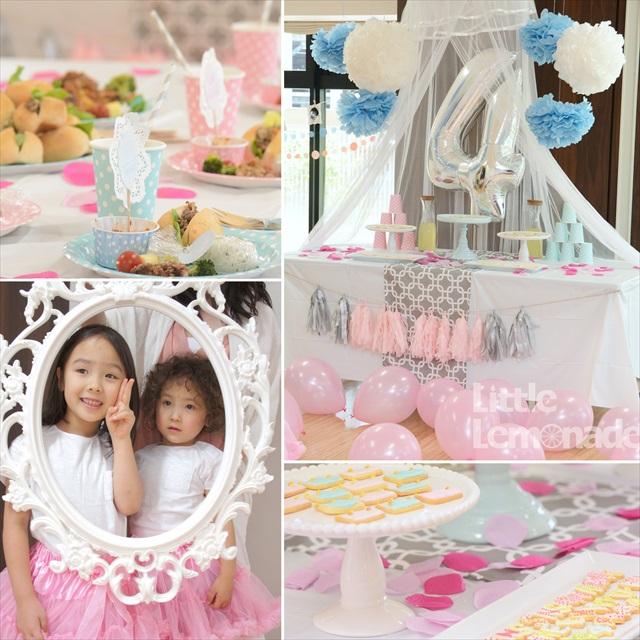 プリンセス&プリンス バースデイ パーティー 合同お誕生日会 : Princess and Prince themed birthday party