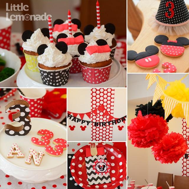 ミニーテーマのバースデイパーティー : Minnie Themed Birthday Party