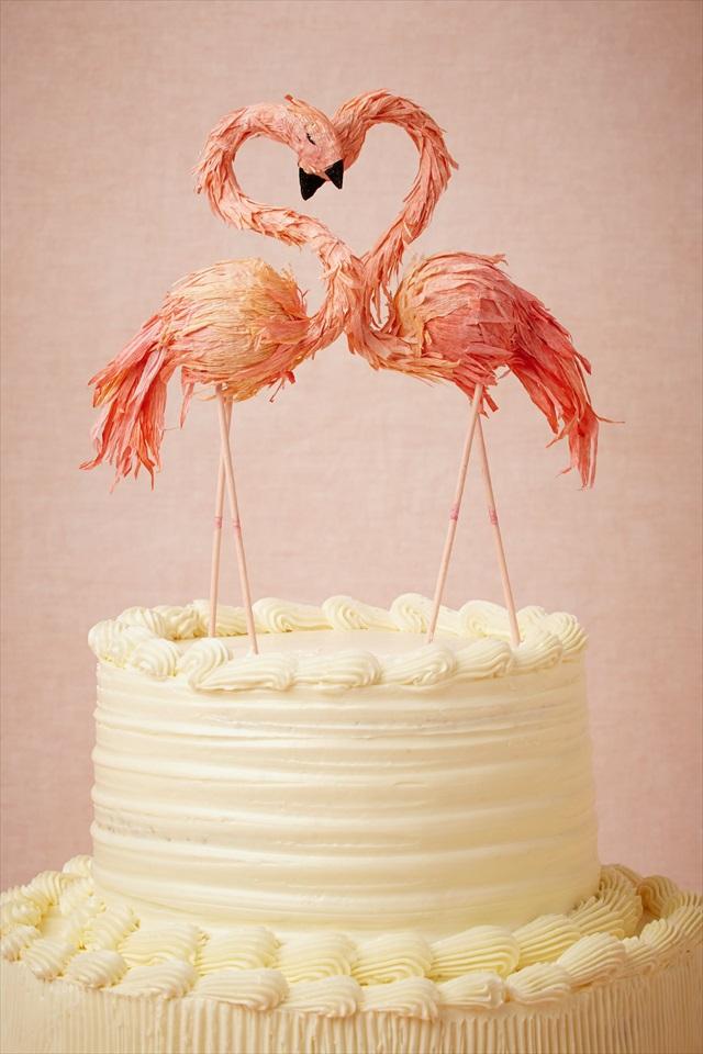 ケーキトッパー_フラミンゴパーティー