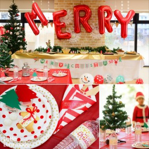 2014 クリスマス パーティーコーディネート : 2014 Christmas Party Report Red x Green x Gold