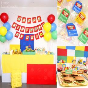 レゴ テーマのお誕生日会 : LEGO Themed 4th Birthday Party