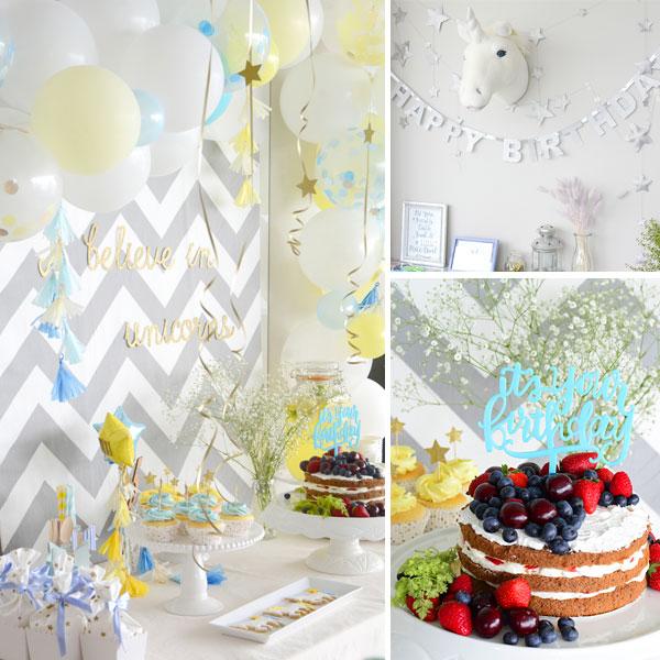 ユニコーンテーマのバースデーパーティー:Unicorn Themed Birthday Party
