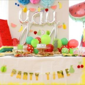 フルーツ テーマのバースデイパーティー : Fruits Themed Birthday Party