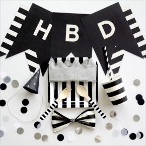 Monotone Birthday Party : モノトーンテーマのバースデイパーティー