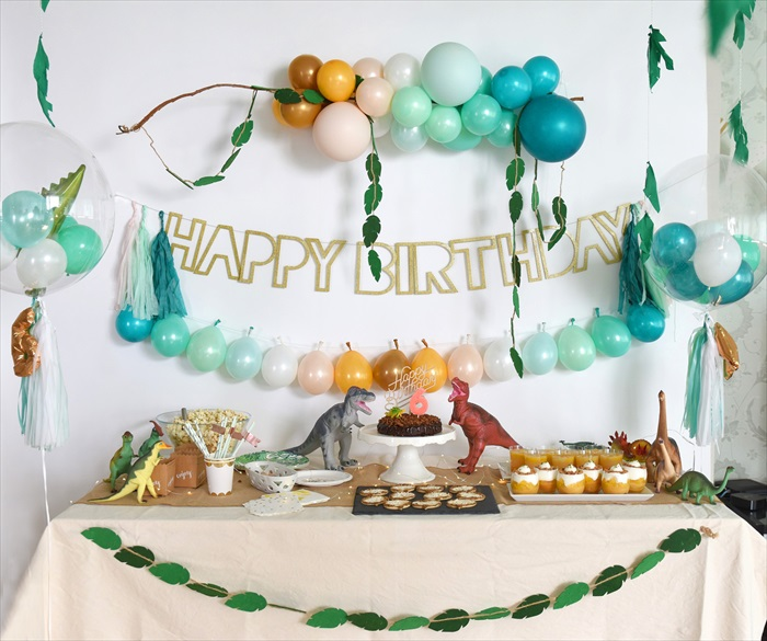 Dinosaur Birthday Party - 恐竜テーマのバースデイパーティー