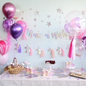 Make a wish Birthday Party – ユニコーンテーマのバースデイパーティー