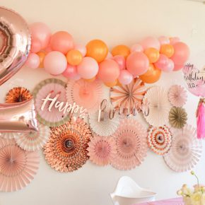 Rose Gold Themed 2nd Birthday Party : ローズゴールドバースデイパーティー