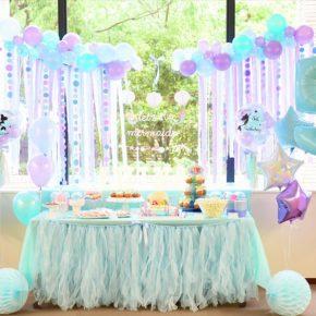 Little Mermaid Themed Birthday Party :マーメイドテーマのバースデイパーティー