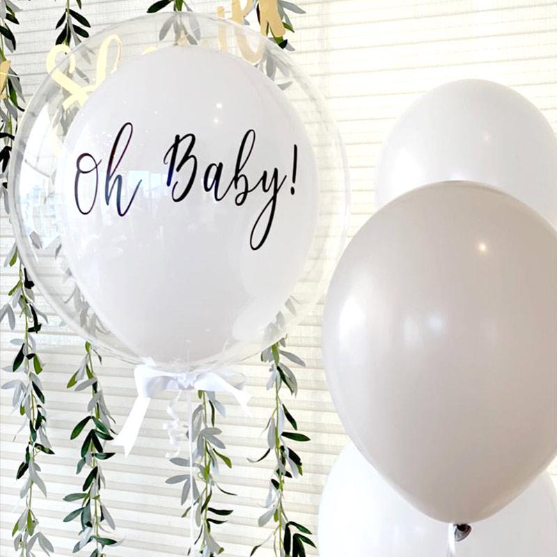 White×Green Botanical Baby shower ホワイト×グリーン ボタニカルベビーシャワー