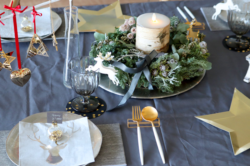 A Holly Christmas Table :  クリスマスのテーブルコーディネート